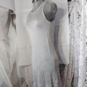 Zara Sleeveless Sheer Sleeveless Body on Dress